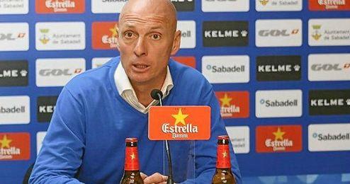 Miquel Olmo, entrenador del Sabadell.