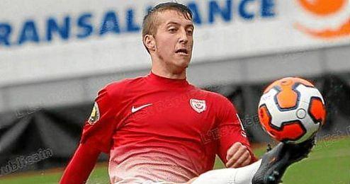 Romain Bauchet, en un partido con el filial del Nancy.