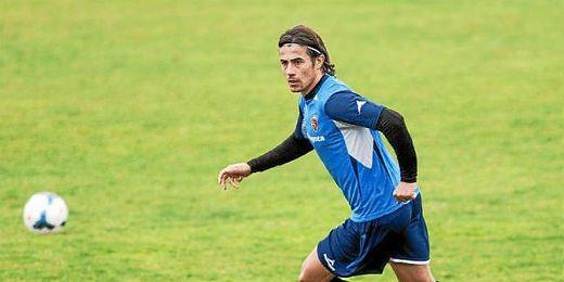 David Cortés entrenando con el Real Zaragoza.