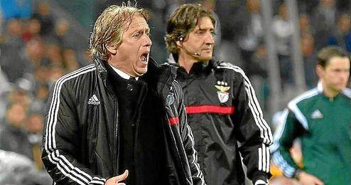 Jorge Jesús, ayer en la banda del Juventus Stadium.