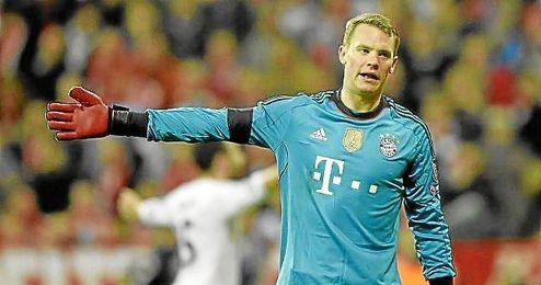 Manuel Neuer, durante el partido de vuelta de la semifinal de la Champions ante el Real Madrid.