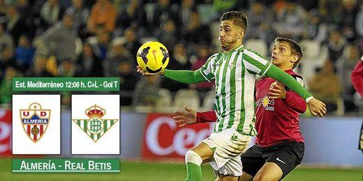 Imagen del Betis-Almería de la primera vuelta en el Benito Villamarín.