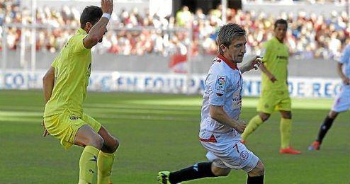 Marin, en el partido ante el Villarreal.