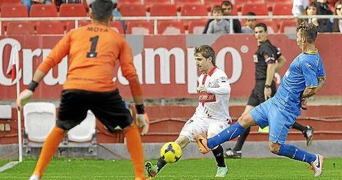 Marin, en un lance del Sevilla-Getafe en la primera vuelta.