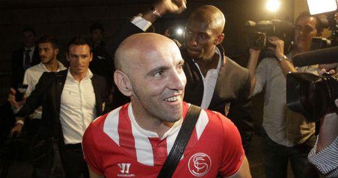Monchi presenció la derrota del Sevilla en Getafe pero, como todos, tenía la mente puesta en Turín desde antes.