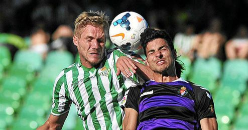 Damien Perquis, en el último partido en el Villamarín.