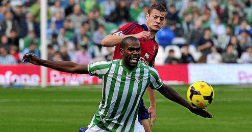 Imagen del Betis - Osasuna de la primera vuelta disputado en el Villamarín.