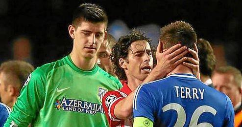 Courtois, tras eliminar al Chelsea en la semifinal de la Champins League.
