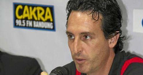 Unai Emery, en la rueda de prensa tras el partido.