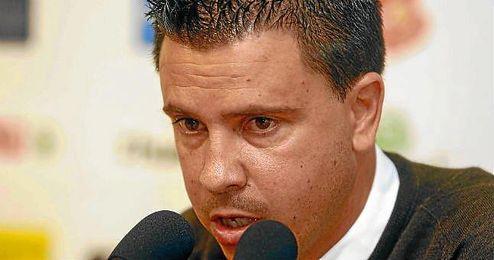Sergio Lobera, durante la rueda de prensa de su despedida.