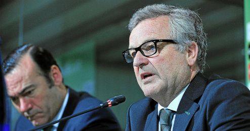 El presidente del Betis, Manuel Domínguez Platas.