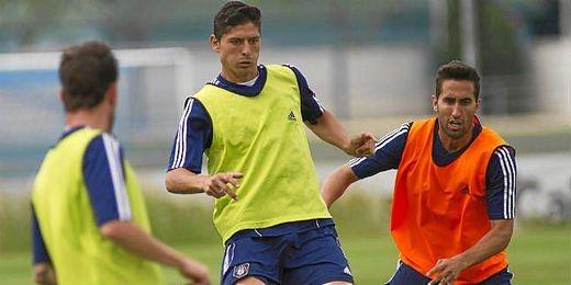 Entrenamiento del equipo. En la imagen Jesús Vázquez y Montoro