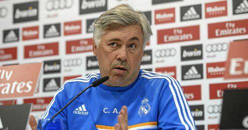 Ancelotti, en una rueda de prensa.