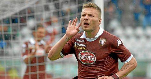 Immobile celebra un gol con el Torino.