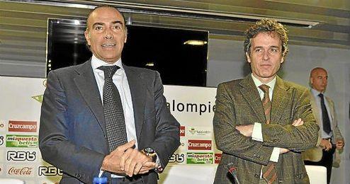Oliver y Rodríguez-Sacristán durante su etapa en el Betis.