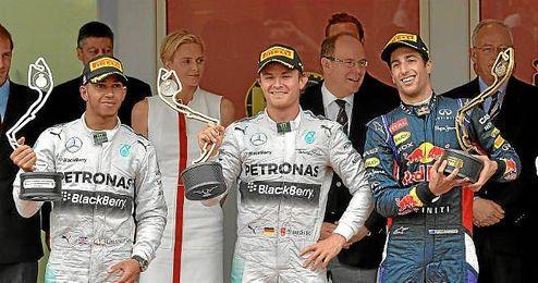 Rosberg se impusó en el último GP disputado, el de Mónaco, por delante de Hamilton y Ricciardo.