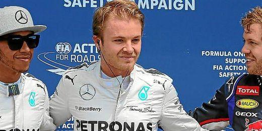 Rosberg celebrando su ´pole position´