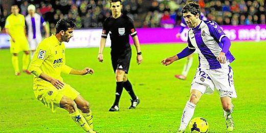 Víctor Pérez, durante un Valladolid-Villarreal.