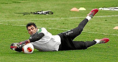 Adán, en un entrenamiento.