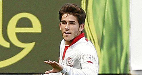 Jairo Samperio celebra un tanto esta temporada.