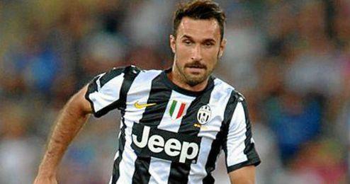 Vucinic jugando con la Juve durante esta temporada