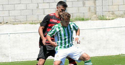 En la imagen, Nacho y Juanma en el Gerena-Betis B.