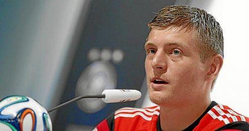 Toni Kroos, durante una rueda de prensa con Alemania en el Mundial.