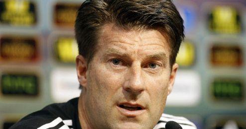 El técnico danés en una rueda de prensa de la pasada Europa League