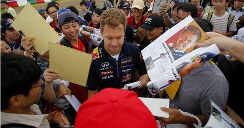 Vettel en el circuito de Suzuka (Japón) donde tendrá lugar el GP de Fórmula 1.
