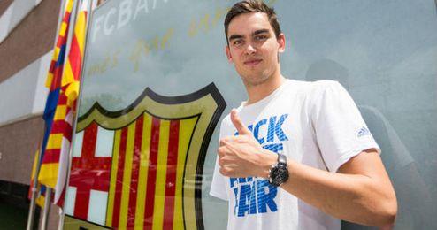Satoransky en su presentación como jugador barcelonista.