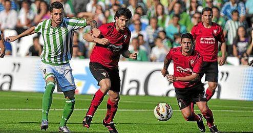 Imagen del Betis-Mirandés de la pasada jornada.