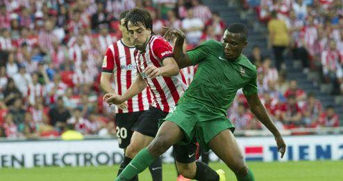 Beñat en el partido Athletic-Levante de esta temporada.