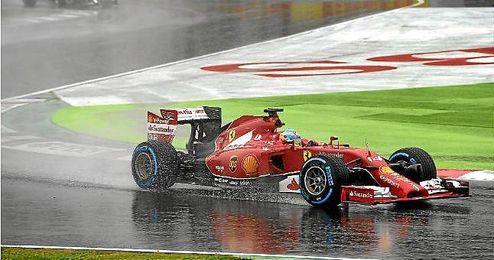 Alonso sorprendido con el seguimiento en el GP Rusia.