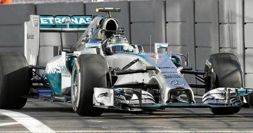 Rosberg durante la primera sesión de entrenamientos