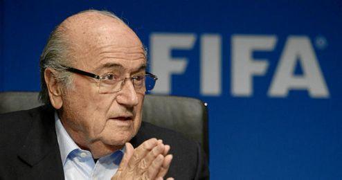 Blatter en un acto de la FIFA.