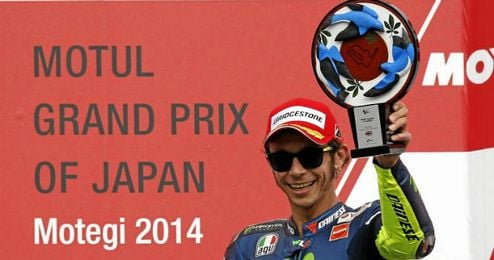 Rossi subió al podio en Motegi