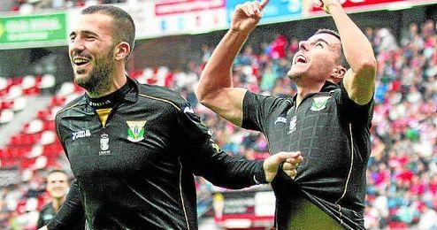 El extremo zurdo, Diego Aguirre, autor del gol en el Molinón.