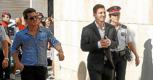 Messi entrando en los juzgados en Barcelona.