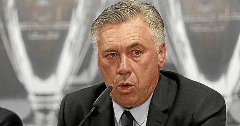 Ancelotti en un acto oficial del club.