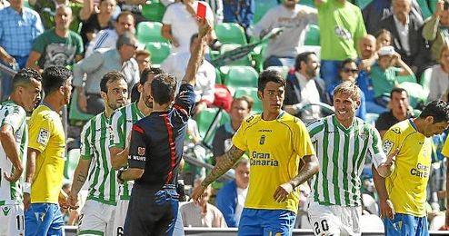Perquis fue expulsado ante Las Palmas.