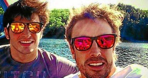 Carlos Sainz Jr. y Fernando Alonso guardan una buena amistad.