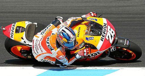 Dani Pedrosa espera recuperar el sitio que les arrebataron Lorenzo y Rossi.