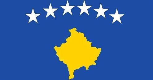 Bandera de Kosovo.