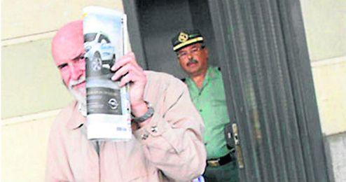 Teodoro Montes, quien ha comparecido ante la juez Alaya como testigo, a su salida del juzgado.