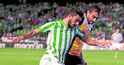 Piccini en el partido ante el Lugo.