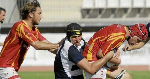 Imagen del encuentro entre Helvetia y Alcobendas Rugby.