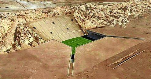 Imagen de uno de los estadios donde se disputará el Mundial de Qatar 2022.