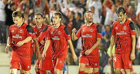 Aspas celebra uno de los goles del miércoles.