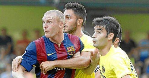 Mathieu, partido de la Liga BBVA disputado entre el Villarreal y el Barcelona