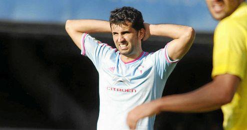 Radoja se lamenta de una acción del partido Celta-Villarreal.